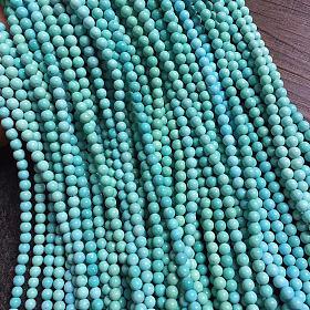 天然原矿秦古料绿松石小米珠佛珠项链毛衣链 绿松石多圈手链配链文玩饰品