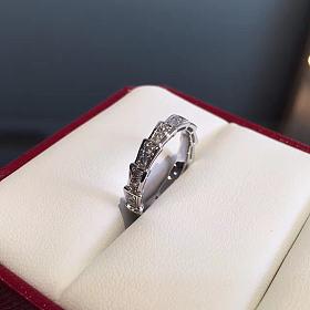 满钻蛇骨戒指