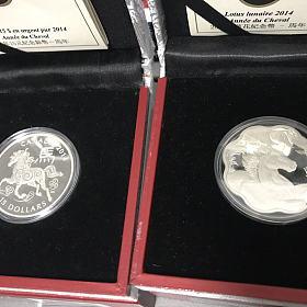 加拿大2014马年纪念银币