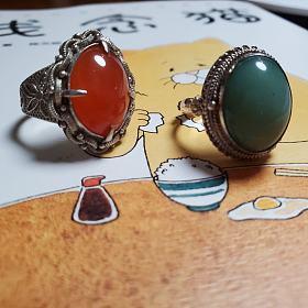 老外贸纯银手工花丝复古戒指