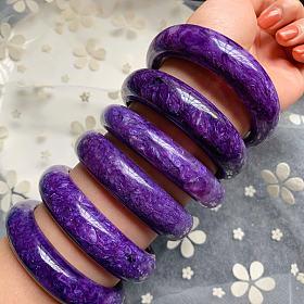 紫龙晶手镯皇家紫满龙纹上手超显白大气查罗石气质高雅女神节福利活动折扣促销