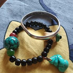 绿松石 单珠 铁线松