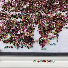 彩色糖果小碧玺清粉色蓝宝石
