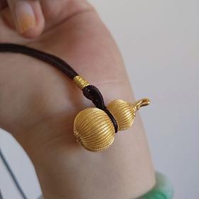 京工美作古法葫芦,花丝平安扣