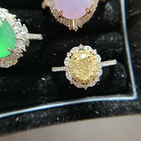 宝石矿工家73分黄钻戒指