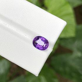 2.6克拉无烧紫蓝宝 浓郁薰衣草色标级