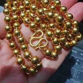 周大福佛珠项链