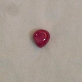 6ct抹谷天然红宝石水滴(裸石)