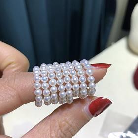 3mm左右小珍珠 项链款 手链款 戒指款 各种叠戴 各种百搭