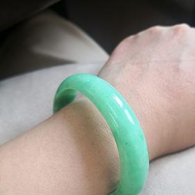 翡翠满绿手镯