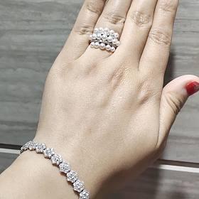 有大目标!降降降!5.6折出宝石矿工钻石花朵近8克拉豪款手链
