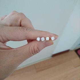 周生生钻石戒指,钻石耳钉66分一对6600,墨翠耳钉1700