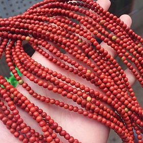 川料南红玛瑙包浆小米珠手链多圈手串项链毛衣链手工DIY手作饰品原创设计风格