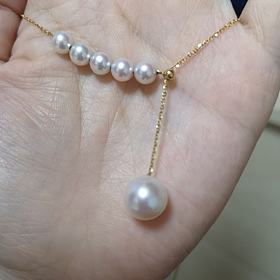重新发下18k珍珠项链戒指