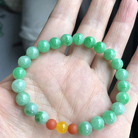 出阳绿珠珠手串