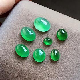 售完,新出的一手冰绿蛋面,种水好,颜色好