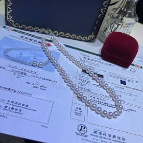 日本真科研大证 8-8.5mm天女套装 带一对耳钉料