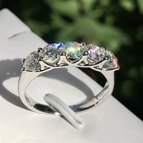 出gia证书1.5克拉钻石戒指排戒 项链手链手镯