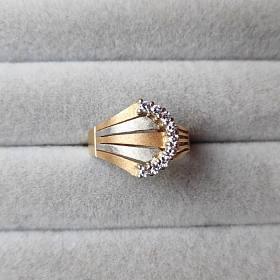 超划算!18k金钻石戒指 拉丝分色工艺 日本珠宝展购入 男戒女戒