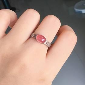 旧贴新用之红纹戒指14号银