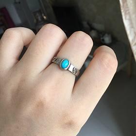 旧贴新用之活口绿松戒指