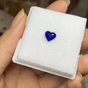 斯里兰卡传统加热皇家蓝蓝宝石裸石
