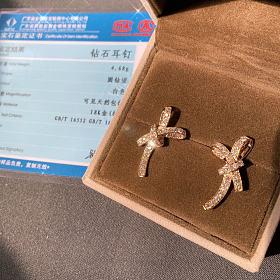 18k金钻石,黄金六福康乃馨