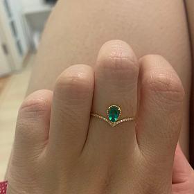 祖母绿小戒指