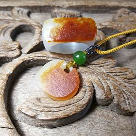 顶级枣红皮籽料戒指