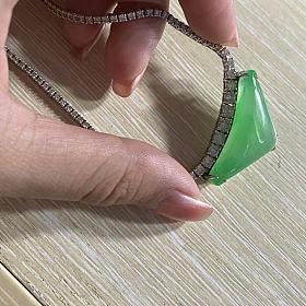 翡翠钻石项链 大三角