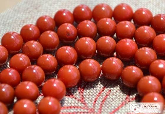 【清晨】九口 柿子红 南红手串_清晨的玉铺