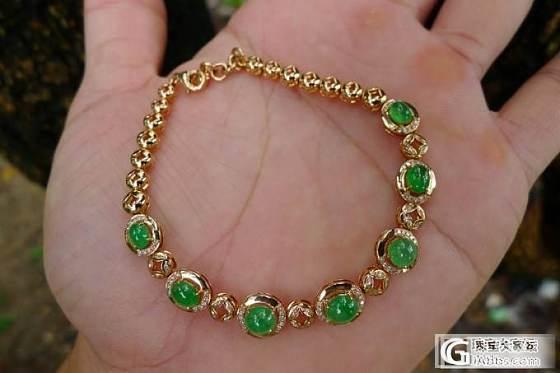 各款精工镶嵌阳绿手链及耳钉、甲纹手链等_翡翠