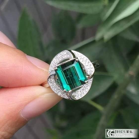 【晶。玺】巴西碧玺彩虹色手链、蓝绿色碧玺戒指、青金石108佛珠、南红勒子颈链_宝石