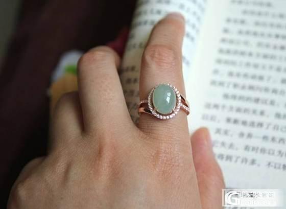 【挽玉阁】925银锆石镶嵌翡翠戒指   280元包顺_挽玉阁