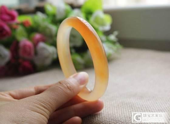 【挽玉阁】橘黄玉髓手镯     180元包顺_挽玉阁