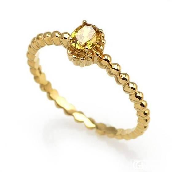 棕黄系列彩钻戒指_镶嵌戒指彩钻珠宝