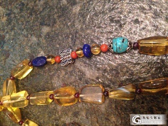 自己编的琥珀、南红项链,便宜出了_珠宝