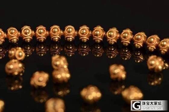 西亚蜻蜓眼金珠,直径7毫米,0.5克重。_珠宝