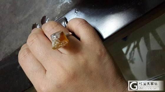 第一次报到,晒个自己磨的戒指_蜜蜡