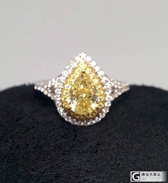 想要一个黄钻戒指,求推荐_彩钻