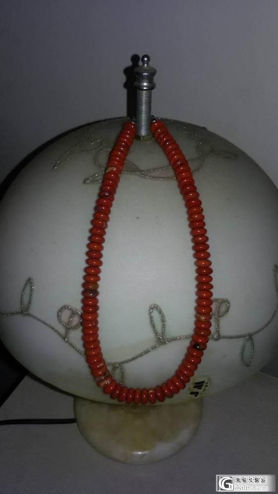 天然比利时原产红碧石玛瑙扁珠银扣项链_玛瑙