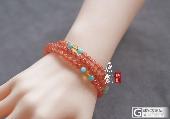 原创:108粒冰飘南红珠链~_翡翠