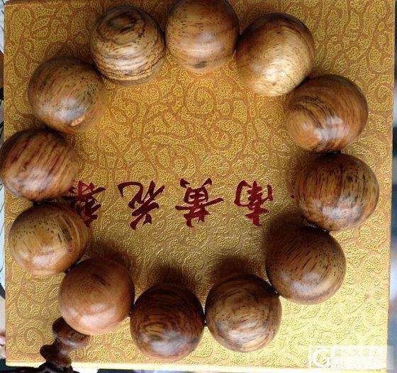 海南黄花梨2.0cm手串,现场买木材手工制作_文玩
