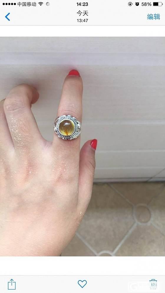 秀秀我的琥珀戒指 欢迎互闪_戒指琥珀