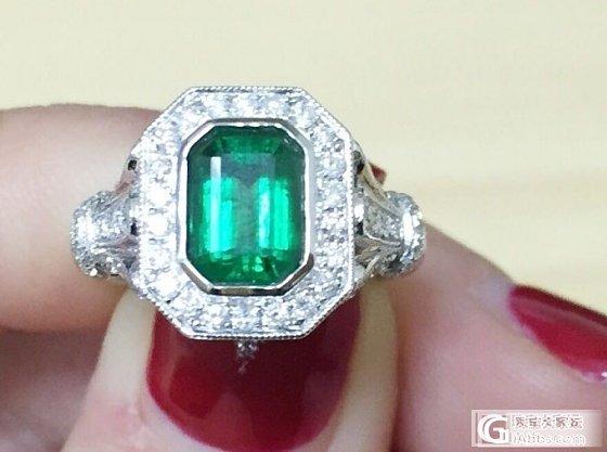 新鲜出炉的奶奶绿戒指样式特别喜欢,想请高手估个价_祖母绿