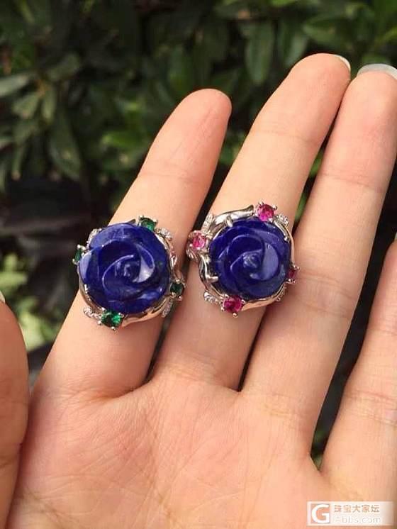 【迎11.11特价 三】青金石戒指,南红耳环戒指_宝石