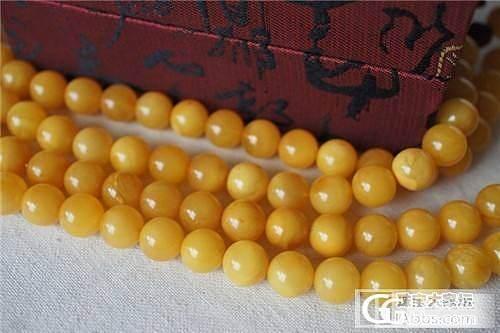 【名 称】波罗的海 琥珀 手链项链 满蜜1410老蜜蜡108颗佛珠8-10mm 6条_珠宝