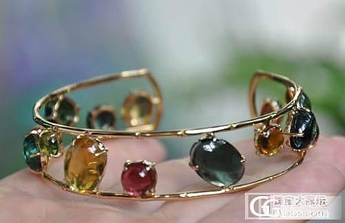 08年前后的设计,一堆碧玺蛋面款式欣赏~素面,不是刻面的。_珠宝
