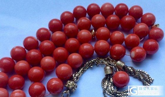 法国淘的九毫米Momo圆珠串,七八十年代的,但这是佛珠串嘛?_有机宝石