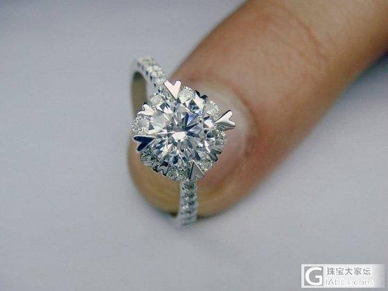 专家们快来告诉我,一颗钻的戒托款式,到底哪种款式最显大?_钻石